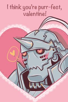 I've never done fandom valentines before, and I had a lot of fun with these! I hope you like them, and happy early Valentine's Day from the cast of Fullmetal Alchemist! Valentines Anime, Funny Valentine, Valentine Day Cards, Fulmetal Alchemist, 鋼の錬金術師 Fullmetal Alchemist, Anime Pick Up Lines, Alphonse Elric, Kawaii, Otaku