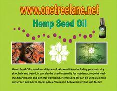 One Tree, Hemp Seeds, Heart Health, Seed Oil, Dry Skin, Health Benefits, Plum, Healing