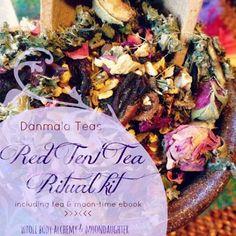 Red Tent Ritual Kit with ebook herbal tea and moon bag by Danmala, $35.00