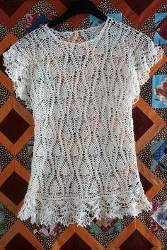 blusa del ganchillo por RugRagsMaria en Etsy