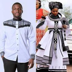 South African Traditional Dresses, Traditional Gowns, Traditional Wedding, Traditional Styles, African Print Fashion, Ethnic Fashion, African Prints, Men Fashion, African Wear Dresses