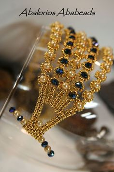 Abalorios Ababeads- seed beads 24 kt gold, rondelles and pearls