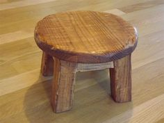 Rustic/ Farmhouse stool/ Primitive/ round by EastabrooksTreeWorks, $35.00