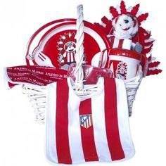 Cesta Atlético de Madrid 1 - Con los colores de tu equipo de fútbol favorito y productos de Licencia Oficial del Club - #atleticodeMadrid