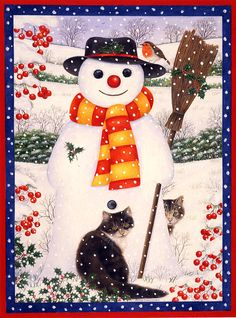 Snow Friends Painting