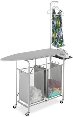 Make ironing less of a chore with this Whitmor Collapsible ironing center. Laundry Decor, Laundry Room Organization, Laundry Room Design, Organiser Son Dressing, Ironing Station, Ironing Board Storage, Tiny House Appliances, Tiny House Living, Tiny House Design