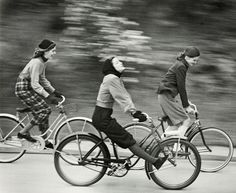 Hermann Landshoff - The Cyclists published in Junior Bazaar, August 1946. S)