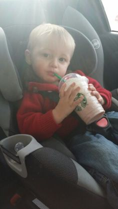 He loves his starbucks ♡