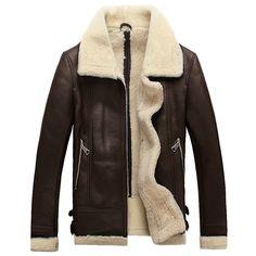 Men Sheepskin Jacket  #luxurypanda
