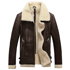Men Sheepskin Jacket  #luxurypanda