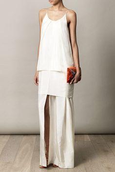 Acne Satya layered dress for women Cute Fashion, Fashion Looks, Womens Fashion, Minimalist Dress, Minimal White Dress, Silk Dress, Dress Up, Elegant Wedding Dress, Wedding Dresses