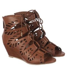 7baad5835 Shiekh Women s Couture Lace-Up Wedge Sandal