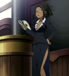 Black Cartoon Characters, Black Girl Cartoon, Black Girl Art, Cartoon Icons, Cartoon Art, Black Girls, Anime Manga, Anime Art, Character Art