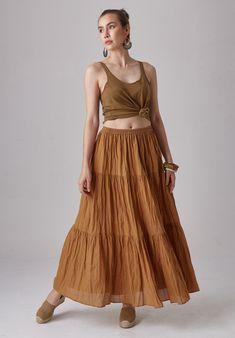 NEW---NO.292 Women/'s Long Sleeve Tiered Peasant Dress #Cream