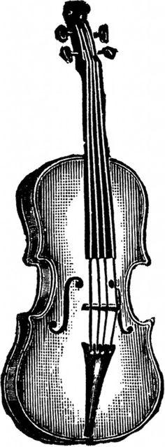 Public Domain Violin Image! - The Graphics Fairy