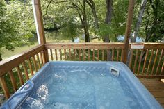 Rippling Waters - This Gatlinburg chalet has a wonderful view of the river from its large private deck.