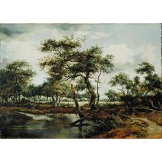 A Pond in the Forest by Meindert Hobbema, 1668 | Allen Memorial Art Museum, Oberlin
