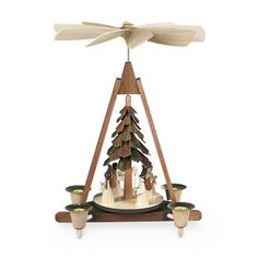 Mueller - Pyramid with Angels, 4 Figurines - Wooden Duck Shop