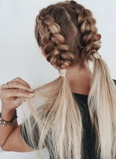 Easy Braided Hairstyles For Long, Braided Hairstyles Tutorials, Box Braids Hairstyles, Girl Hairstyles, Wedding Hairstyles, Hairstyles 2018, Fringe Hairstyles, Hairstyle Ideas, Workout Hairstyles