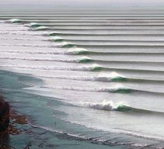 The longest, left-breaking wave in the world located in Chicama, Peru. (Source)