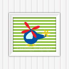 Helicopter Wall Art Printable Wall Art by CarouselPrintables, $5.00