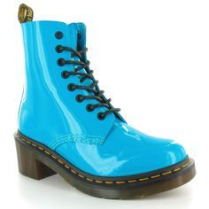 Bright blue doc marten boots