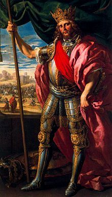 Theodoric I called in Spanish, Portuguese and Italian Teodorico, was the Germanic King of the Visigoths from 418 to 451 AD. An illegitimate son of Alaric,Theodoric is famous for defeating Attila at the Battle of the Catalaunian Plains in 451, where he was killed.