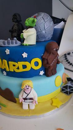 Star wars birthday cake Star Wars Birthday Cake, Stars, Desserts, Food, Tailgate Desserts, Deserts, Essen, Sterne, Postres