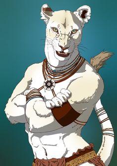 Sejmet anthro form by Wyn-de-Weynilard