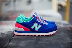 """New Balance 574 Women's """"Winter Brights"""" for the ladies."""