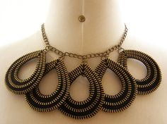 $25+ $8 Metal Zipper Necklace  Drops Shapes  Handmade  by ChicTime on Etsy