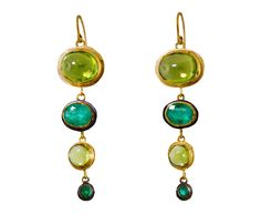 Judy Geib | Peridot and Emerald Mechanique Earrings in Occasion Celebrate August! at TWISTonline STUNNNG COLOR COMBINATION!