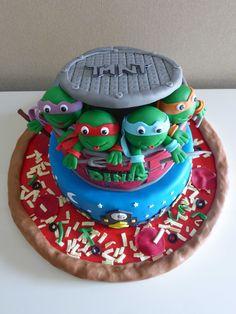 Bolo de Aniversário - Tartarugas Ninja