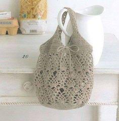 Схема-выкройка вязания сумки крючком