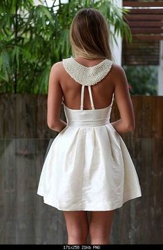 Super cute white backless dress  Cute, but too waspy - Eve