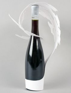 Fresh work from Sylvain Allard& From a single sheet of paper, design a label for a bottle of wine. Through manipulation, bendin. Craft Packaging, Paper Packaging, Bottle Packaging, Perfume Packaging, Design Packaging, Wine Bottle Design, Wine Design, Grafik Design, Packaging Design Inspiration