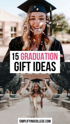 15 Graduation Gift Ideas for Girls 15 high school graduation gift ideas every recent grad will love! High School Graduation Gifts, College Graduation Gifts, Graduate School, Graduation Ideas, College Gifts, Gifts For Girls, Girl Gifts, Senior Gifts, Presents For Her