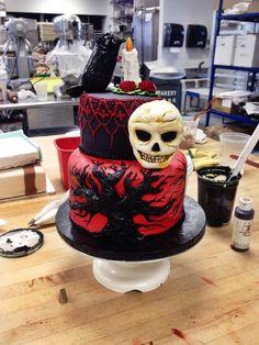 Edgar Allen Poe cake