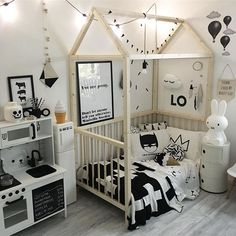 Instagram media by svartvitrandig - Monokromt, as we like it  Tänk vad roligt det är att leka i köket och sova i sängen, iallafall nästan varje natt. Nu lite kvällsgröt innan sängen kallar. Hoppas ni har en fin kväll vänner ♡♡♡ _________________________________ #myhome #bopomofoshop #infanttoddler #miniwilla #hussäng #hazellovesivy #kartell #bisoudelou #stickstay #miffy #love