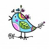 Sketch Of Funny Colorful Bird For Your Design Royalty Free Cliparts, Vectors, And Stock Illustration. Image 15478163.