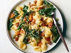 Orecchiette with Pumpkin, Pancetta and Broccoli Rabe Anne Burrell takes fall pasta to a new level with layers of flavor. Deeply roasted pumpkin, bitter broccoli rabe and salty pancetta come together for a dish that's uber-cozy. Pumpkin Recipes, Fall Recipes, Dinner Recipes, Thanksgiving Recipes, Pasta Recipes, Cooking Recipes, Broccoli Recipes, Healthy Recipes, Cooking Ribs