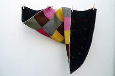 Manta em Crochet com forro pela Mi Mitrika (vendida)
