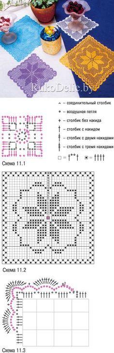 """Centro de mesa """"Estrela"""", em crochê com gráfico"""