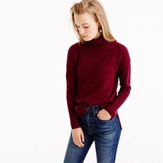 When it comes to can't-live-without wardrobe essentials, there's nothing like a wool turtleneck. This comfy version has an easy, relaxed fit with exaggerated rib trim at the cuffs and waist. Chances are you'll need multiples. <ul><li>Relaxed fit.</li><li>Hits slightly below hip.</li><li>Wool/nylon/viscose.</li><li>Rib trim at cuffs and hem.</li><li>Dry clean.</li><li>Import.</li></ul>