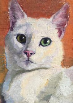 by Katya Minkina, Oil, 7 x 5 Cat Drawing, Painting & Drawing, Art Watercolor, Animal Paintings, Pet Portraits, Cat Art, Art Inspo, Canvas Art, Fine Art
