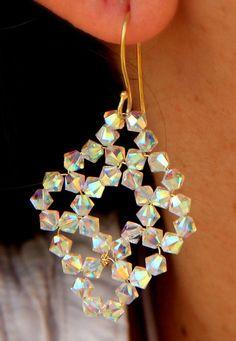Swarovski Earrings / Beaded Earrings / Beaded Jewelry / by Ranitit