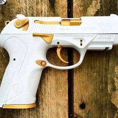 custom gold guns badass - Google Search
