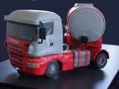 Scania LKW Torte, 3D-Torte, Sattelschlepper, LKW Motivtorte, Scania Truck Cake, Fondant