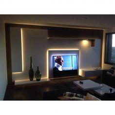 WANDMEUBEL ROTTERDAM #Wandmeubel volledig in RAL 9010 met Palissander. Het #meubel hangt voor een ruimtelijk effect vrij van de muur. Ook zijn er verschillende vlakken welke naar voren komen met daarachter LED-verlichting verwerkt. Materiaal: MDF gespoten in RAL 9010, HPL Palissander Afmetingen: 4200 x 400 x 2200mm (lxbxh) #Ontwerp: #Robbrecht #Vormgeving #meubelmaker #design #kast #tvmeubel #Rotterdam