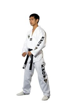 KWON Kampfsportanzug Taekwondo Starfighter Weißes Revers